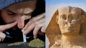 Nosy na sfingách boli vytesané autenticky. Faraóni mali poškodené nosy zo šnupania marihuany.