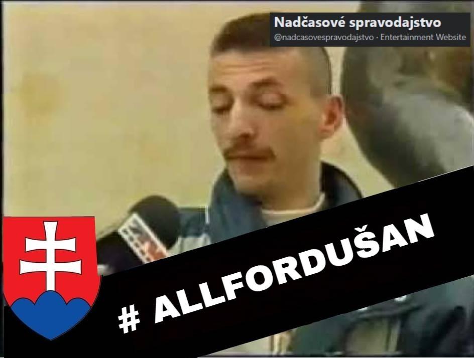 Štramák Dušan sa musel kvôli vláde Matoviča prefetovať toluénom. Včera zomrel. #ALLFORDUŠAN