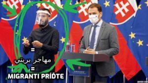 Kým si všímate Matoviča na tlačovke, človek vedľa neho nenápadne pozýva migrantov na Slovensko.